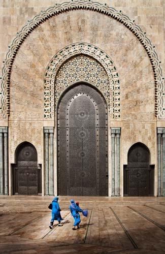 II. Hasszán mecset főbejárata